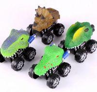 Wholesale dragons lead resale online - Smart Children Toy Triangle dragon fear leading inertia car Inertia car Mini Toy for Boys Free Shopping