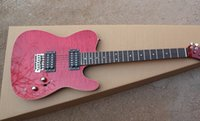 klassische gitarren geben verschiffen frei groihandel-Top Qualität Klassische Art F Telecaster Weinrot Custom Shop Zwei Humbucker Tele USA E-gitarre Kostenloser Versand