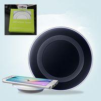 qi kablosuz şarj tablası toptan satış-Galaxy S6 Qi Kablosuz Şarj Pad Verici Hızlı Şarj Plakası Samsung S6 Kenar Cep Telefonları Için Ücretsiz Kargo DHL