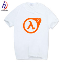 Wholesale Half Sleeves Tops - 2017 Men Print Half Life 3 T-shirt Short Sleeve O-Neck Camisetas Funny Tops Casual White Streetwear Tshirt HCP519
