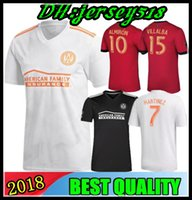 Wholesale top thai jerseys - Top Thai quality 18 19 Atlanta United soccer jersey 2018 2019 GARZA JONES VILLALBA MCCANN MARTINEZ ALMIRON FC Atlanta away football shirt