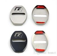 accesorios para vw cc al por mayor-Car Styling Cubierta de la cerradura de la puerta Estuche para VW Volkswagen R Line Golf 7 Passat B5 B6 B7 MK4 MK6 MK7 RLine CC Accesorios Car Styling