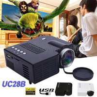 Wholesale mini projector manual for sale - Group buy UC28 UC28B Projector Mini LED Portable Theater Video Projector PC Laptop VGA USB SD AV digital pocket home cinema by DHL
