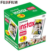 Wholesale 55 camera - Original Fuji Fujifilm Instax Mini Film White Edge Photo Papers For Mini s Share SP Instant Camera sheets