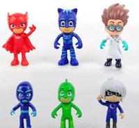 Wholesale mask characters for sale - Group buy 6 PJ Doll Action Figure Toys Catboy Owlet Gekko Cape Cartoon Characters Masks Doll Toys For Children KKA5011