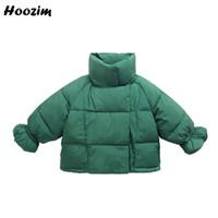 ingrosso giacca invernale gialla per bambini-Winter Cool Jacket For Girls 2 3 4 5 6 Anni Casual Kids Tuta sportiva Bella Green Parka Children Autumn Coat giallo per le ragazze
