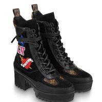 talons noirs coeur achat en gros de-Black Heart Platform Desert Boot 1A4MQE Femmes Talons hauts Lolita POMPES CHAUSSURES BASKETS Chaussures Habillées