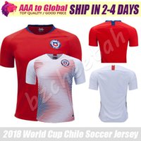 Wholesale copa shirts - Alexis jersey 2018 Copa world top quality Soccer jersey Valdivia Alexis Sanchez Medel Vidal shirts football Adult uniforms