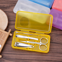 kostenloser nagelkit großhandel-4 stücke Professionelle Pediküre Maniküre Set Fall Nagelpflege Nagelhaut Clipper Tool Kit kostenloser versand