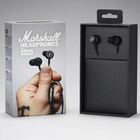 ingrosso auricolari mela nera-Marshall MODE Cuffie Auricolari In Ear Auricolari neri con microfono HiFi Auricolari Cuffie per Iphone X 8 Plus Note8 S9 + S8 Cell Phone