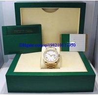 gelbe weiße geschenkboxen großhandel-Weihnachtsgeschenk Herrenuhr 40mm 228238 18K Gelbgold Weiß Römisches Zifferblatt Uhr NEU Original Box Zertifikat