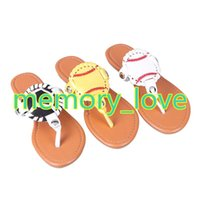 b80fde0f026024 Wholesale personalized slippers online - Hot sale Personalized Fashion  Sports Baseball Football flip flop Slippers Sandals