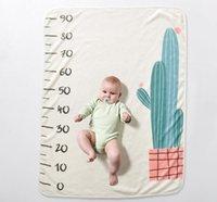 ingrosso sfondo per i bambini-baby flanella coperte lettere numeri stampato coperte morbido neonato mensile crescita fotografia sfondo puntelli bambini foto fondali BHB48