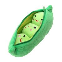 Wholesale peas doll resale online - 25CM Kids Baby Plush Toys For Children Cute Pea Stuffed Plant Doll Girlfriend Kawaii Gift Toy Random Color
