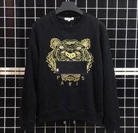 Wholesale spring men t shirt online – design Sweatshirts Designer Long Sleeve T Shirts For Men Tiger Embroidery Hoodeis Brand lLetter Top Women Autumn Spring Size S XL