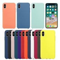 Wholesale customized logo case for sale - Luxury Liquid Silicone Rubber Phone Case For IPhone x s s plus Samsung S8 Plus Huawei P20 Lite Coque Cover With Logo and Retail Box