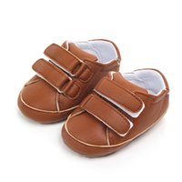 резиновые сапоги оптовых-Spring Autumn baby sports shoes boys and girls anti-skid soft rubber baby shoes PU Leather solid color