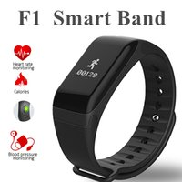Wholesale Fitness Wristbands - F1 Smart Wristband With Heart Rate Blood Pressure Monitor Function Bluetooth4.0+ Wireless Fitness Sports Tracker for IOS and Android Phone