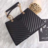 Wholesale ladies doctor bag - Italy purchasing new V Y chain cowhide lady Chain Handbag shopping bag