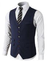 ingrosso gli uomini vestono vestiti indietro-New Royal BlueTweed Vest Gilet di marca Slim Fit Spliced Back Groom Vest Custom Made Abito da uomo Suit Vest for Weeding