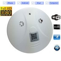 Wholesale Spy Smoke Detector Wifi - WiFi Hidden Camera Smoke Detector 1080P HD Wireless Spy Cameras Smoke Alarm Security IP Camera Motion Activated Nanny Cam with Live Viewing