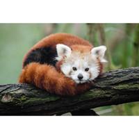 pandas diamant großhandel-Diamant-Mosaik-Stickerei-Geschenkkreuzstich des kleinen Pandas voller Diamantdiamant, der DIY handgemachte Hauptdekoration stickt