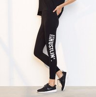 Wholesale sexy leggings yoga pants for sale - Sports Leggings Yoga Pants Letter Printed Style Women Sexy Hip Push Up Pants Fitness Workout Gym Jogging Trousers Sportswear KKA5127