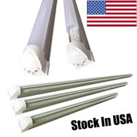 Wholesale Feet Warmers - T8 V shaped 8ft led tube lights integrated 2ft 3ft 4ft 5ft 6ft 8 foot cooler door lighting double row shop lights tubes fluorescent fixture