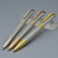 Wholesale pen resin resale online - Luxury R O X brand cute ballpoint pen stationery office school supplies metal resin blue refill write ball pens for best birthday gift