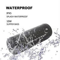 usb altavoz portátil para pc al por mayor-Altavoces portátiles inalámbricos a prueba de agua al aire libre Bluetooth Columna Bajo Estéreo Centro de música Reproductor Subwoofer Altavoz para teléfono PC
