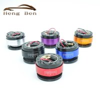 Wholesale Quick Release Snap - HB Black Steering Wheel Snap Off Quick Release Hub Adapter Boss kit Universal MOMO