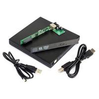 dvd ide laptop toptan satış-IDE CD DVD RW ROM Harici Kasa Muhafazası için Laptop USB