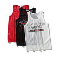 мужские рубашки оптовых-Оптово-Сексуальные мужские футболки Прозрачная сетка Прозрачные топы Тис Сексуальный мужской футболка с V-образным вырезом синглетный гей Повседневная одежда Футболка Сетка