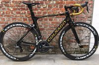 karbon bisiklet grupları toptan satış-Altın Colnago konsept Ile Karbon Yol Bisikleti Bisiklet Ultegra R8000 Groupset Satılık 50mm karbon tekerlek