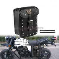 Wholesale motorcycle side saddle bags resale online - Motorcycle Side Tool Bag Saddle Bag Luggage for Harley sportster touring