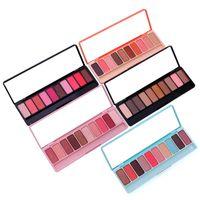 комплекты блеска для макияжа оптовых-LAMEILA Pro 10Colors Shimmer Matte Eye Shadow Palette  Long Lasting Waterproof Pigments Glitter Eyeshadow Kits