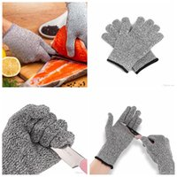 Wholesale butchers glove - Safety Anti Cut Resistant Gloves Cut Proof Stab Resistant Metal Mesh Butcher Gloves Food Grade Level 5 Kitchen Tools AAA401