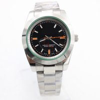 Wholesale Brand Watches New Model - luxury brand watch men 40mm Rolix MILGAUS Mans luxury automatic watch AAA model 116400GV watches 08