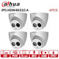 dahua ip dome kamera großhandel-Dahua 6MP IP-Kamera IPC-HDW4631C-A-Upgrade von IPC-HDW4431C-A POE Netzwerk Mini-Dome-Cam Eingebauter MIC CCTV-Kamera-Metall 4pcs / lot