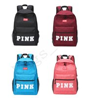 Wholesale american girl school backpack - 4 Color Fashion PINK Backpack Teenagers School Backpacks Girls Travel Laptop Comfortable Luggage Bags For Women DHLFree shipping