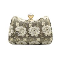 Wholesale metal handles for handbags for sale - Group buy Women Evening Clutch Bags Vintage Flowers Evening Bag Metal Handle Women s Handbags Black Gold Purses Bag For Wedding