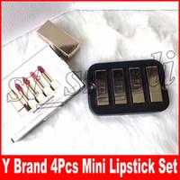 Wholesale mini lipsticks online - Famouse Y Brand Colors Lip Makeup Set Rouge Pur Conture Matte Mini Collection Lipsticks kit set