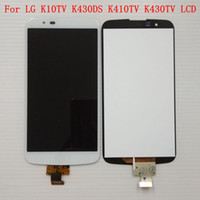 Wholesale tv ic resale online - For LG K10 TV K10TV K430TV K410TV Black White Digitizer Touch Screen LCD Display with IC on flex Not For K10 LTE Assembly