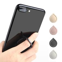 Wholesale phone handset holder for sale – best Top Quality Water Drop Finger Ring Holder Universal Mobile Phone Ring Magnetic Stander With Retail Package For iPhone Sumsung All Handset