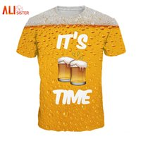 0538c2473 Wholesale funny beer shirts for sale - Group buy Alisister Beer Print T  Shirt It S