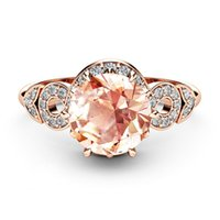 Wholesale European and American classic silver jewelry New k rose gold creative full diamond micro set engagement ring Holiday gift