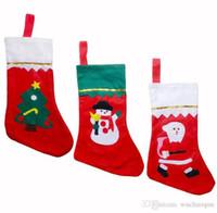 tambores de mão chinês venda por atacado-veludo qualidade extra grande colecção de presente decoração de presente de Natal meias véspera de Natal sacos de itens de coleção de Natal BY0506