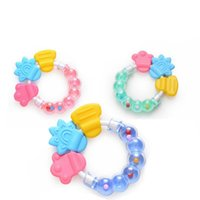 Wholesale bpa toys online - New Baby Teething Teether Ring Circle Teether Balls Toys for Baby Lovely Baby Bell Toy Product Cute Teeth Training