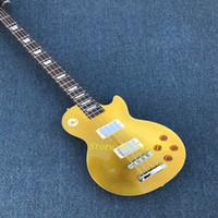oem bajo al por mayor-Alta calidad LP 4 String Bass, Custom Bass Guitar, Metal Gold Color, OEM aceptado, venta al por mayor
