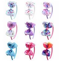 tupfen haarbögen großhandel-JOJO Mädchen Stirnbänder Bunte Unicorn Bogen Haarband 9 Stile Mode Polka Dot Beugt Stirnbänder für Babys Unterstützung FBA Drop Shipping H953R